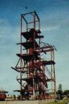 Monumen kilang minyak masa lalu di  Pangkalan Brandan